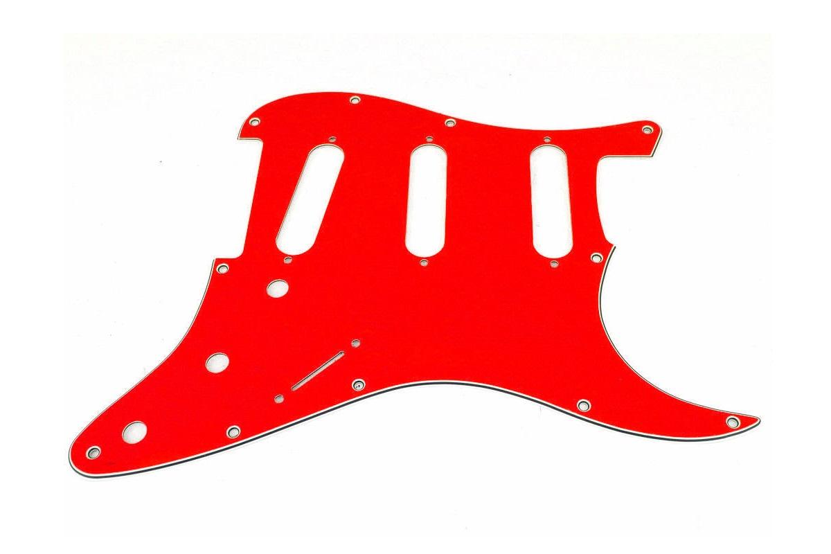 PICKGUARD STRATOCASTER SSS ROJO 3 CAPAS