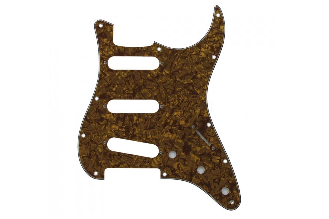 BROWN GOLD PEARL STRATOCASTER PICKGUARD SSS