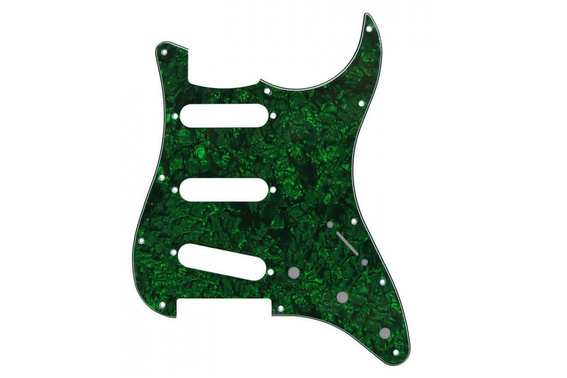 GREEN PEARL STRATOCASTER PICKGUARD SSS