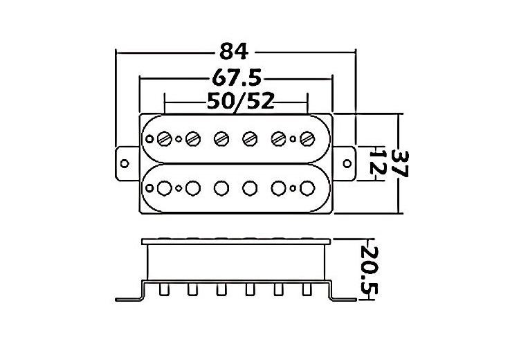 Wilkinson Humbucker Pickups Wiring Diagram from clandestineguitars.com