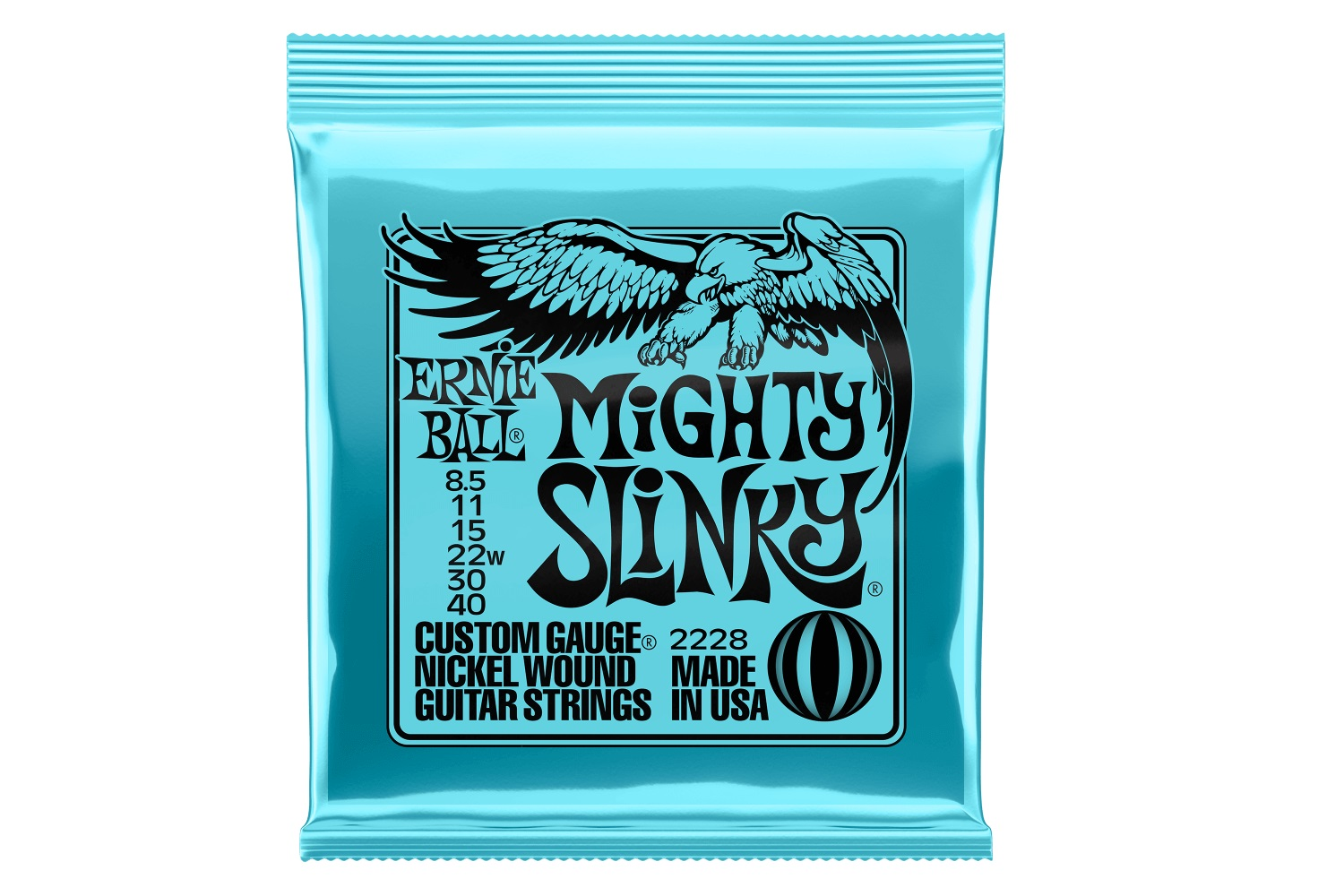 ERNIE BALL MIGHTY SLINKY NICKEL GUITAR STRINGS 2228