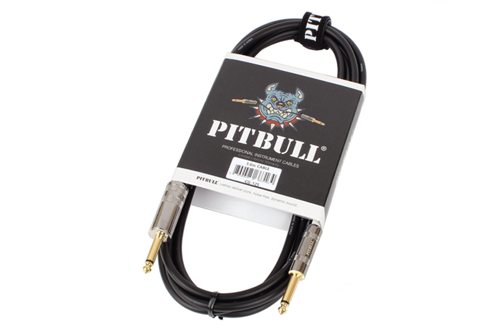 "PITBULL CG-12S PVC DOUBLE MONO JACK 6.35MM ""SILENT PLUG"" CABLE 3,6 METERS"