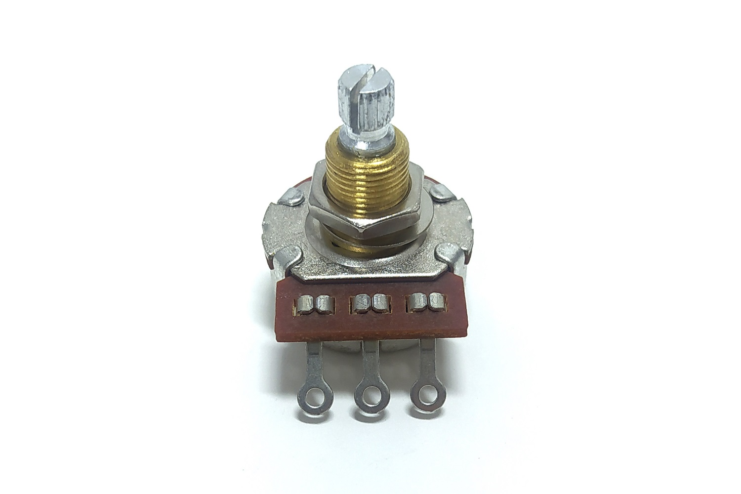 ALPHA 24MM FULL SIZE LONG SHAFT BRASS BUSHING POTENTIOMETER